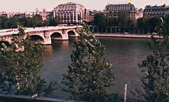 View of Pont Neuf and the Seine from our window